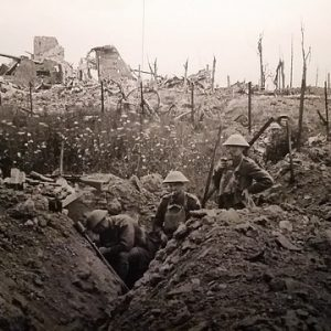 an image of a trench during WWI