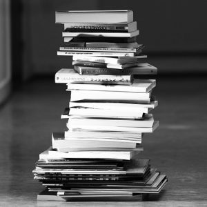 black and white books