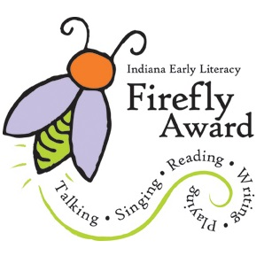 Logo for the Indiana Early Literacy Firefly Award