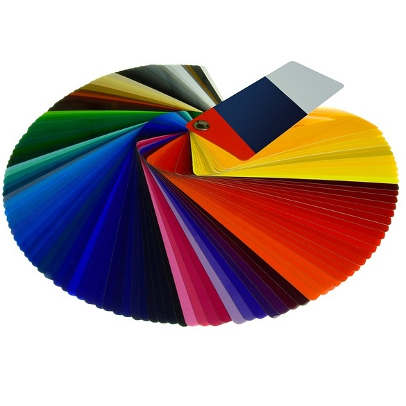 Color paint chips