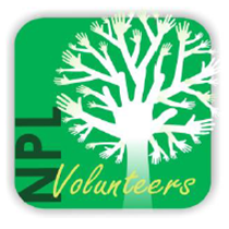 image of Nappanee Public Library volunteer logo tree with hands