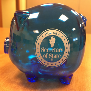 image of blue piggy bank from Indiana Secretary of State