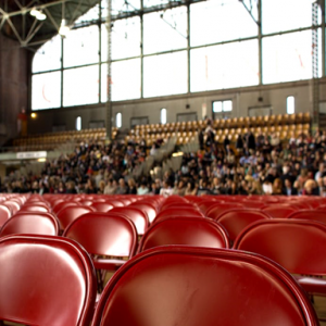 image of chairs in a large auditorium