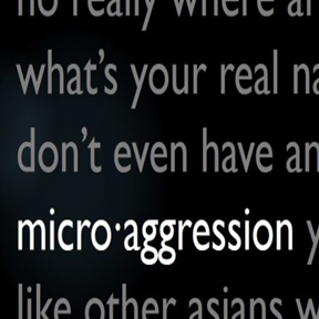 image of words microagression