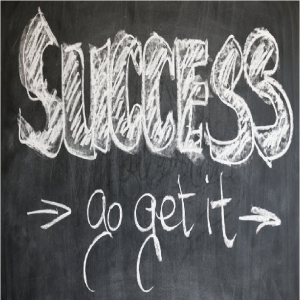 image of success go get it words
