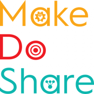 image of make do share logo