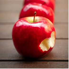 image of apple with bite