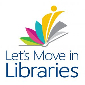 Let's Move in Libraries logo
