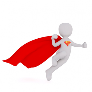 image of person with superman cape