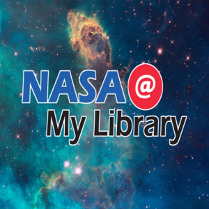 image of NASA at my library logo