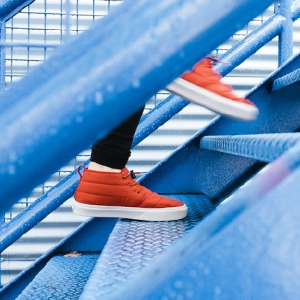 image of shoes on stairs