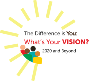 The Difference is You logo What's your vision 2020 and beyond