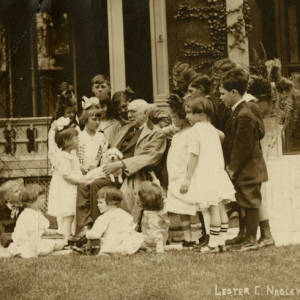 James Whitcomb Riley with children